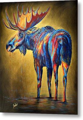 Regal Moose Metal Print