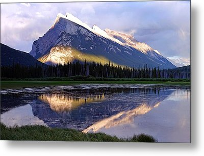 Mount Rundle Metal Print by Heather Vopni