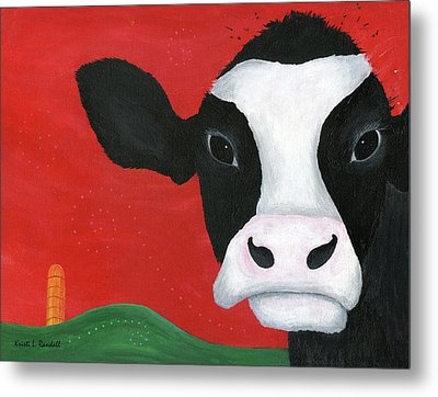 Regina The Happy Cow Metal Print by Kristi L Randall