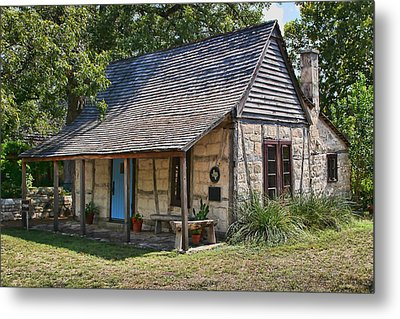 Registered Early Texas Dwelling Metal Print