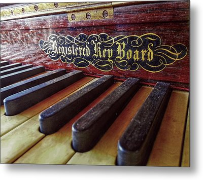 Metal Print featuring the photograph Registered Key Board by Linda Unger