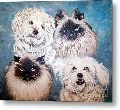 Reigning Cats N Dogs Metal Print