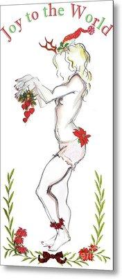 Reindeer Cupid II - Christmas Cards Metal Print