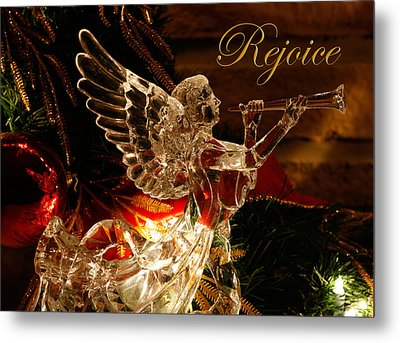 Metal Print featuring the photograph Rejoice Crystal Angel by Denise Beverly