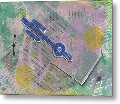 Relativity And Such Metal Print by Maura Satchell