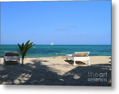 Relax And Enjoy Metal Print by Edward R Wisell