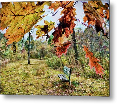 Metal Print featuring the photograph Relax And Watch The Leaves Turn by Kerri Farley