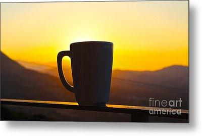 Relax At Sunset Metal Print by David Warrington