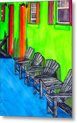 Metal Print featuring the painting Relax by Lil Taylor
