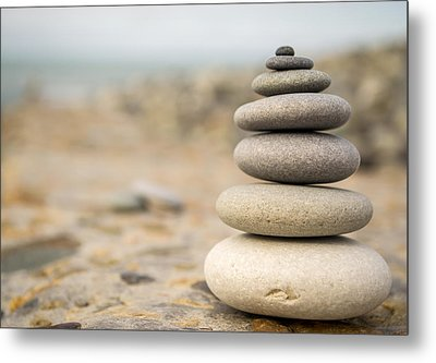 Relaxation Stones Metal Print by John Williams