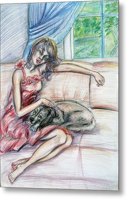 Relaxation  Metal Print by Yelena Rubin