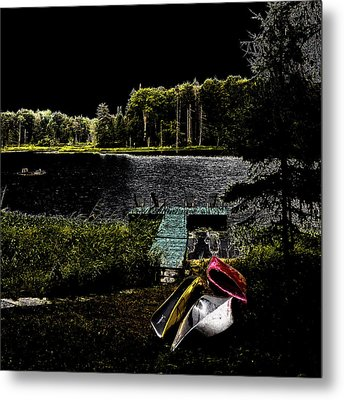 Metal Print featuring the photograph Relaxing By Moonlight by David Patterson
