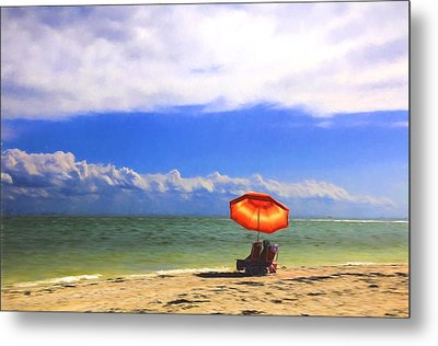 Metal Print featuring the digital art Relaxing On Sanibel by Sharon Batdorf
