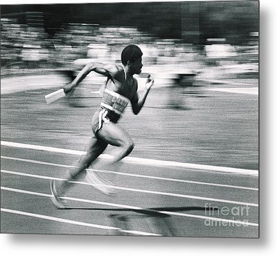Relay Runner Metal Print by Jim Wright
