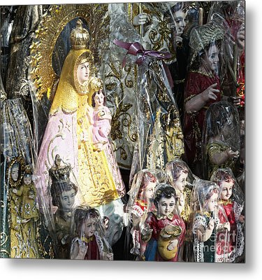 Religious Statuettes For Sale Metal Print by Skip Nall