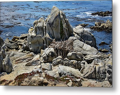 Metal Print featuring the photograph Remains Of Ancient Rocks At Carmel Point by Susan Wiedmann