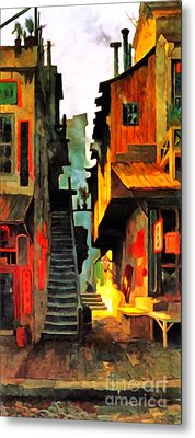 Metal Print featuring the photograph Remastered Art Chinatown San Francisco 1886 By Edwin Deakin 20170409 by Wingsdomain Art and Photography