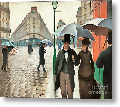 Remastered Gustave Caillebotte Paris Street Rainy Day 20170408 Metal Print
