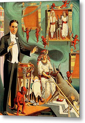 Metal Print featuring the photograph Remastered Nostagic Vintage Poster Art Thurston The Great Magici by Wingsdomain Art and Photography