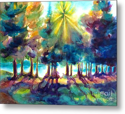 Metal Print featuring the painting Remember The Son by Kathy Braud