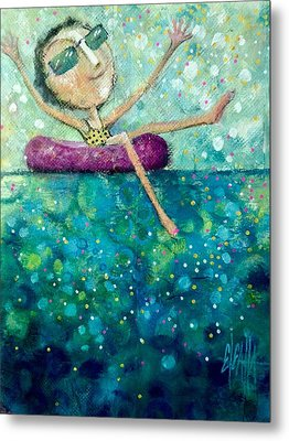 Metal Print featuring the painting Remember To Play by Eleatta Diver