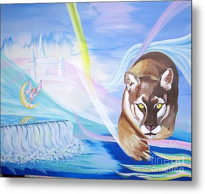Metal Print featuring the painting Remembering Childhood Dreams by Phyllis Kaltenbach