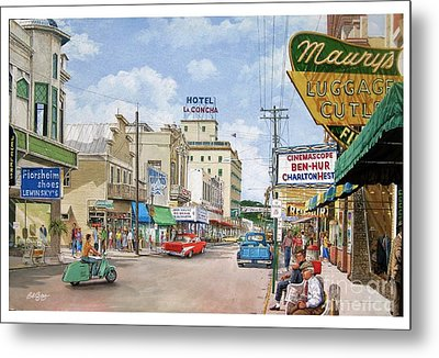Remembering Duval St. Metal Print by Bob George