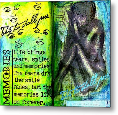 Remembering My Son -  Art Journal Entry Metal Print