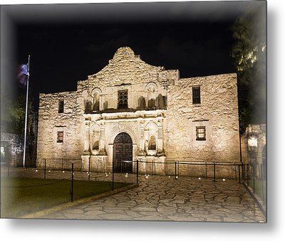 Remembering The Alamo Metal Print