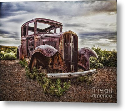 Remembering U.s. Route 66  ... Metal Print by Chuck Caramella