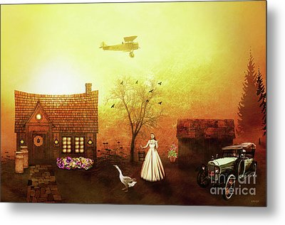 Reminiscent Of The Past Metal Print by KaFra Art