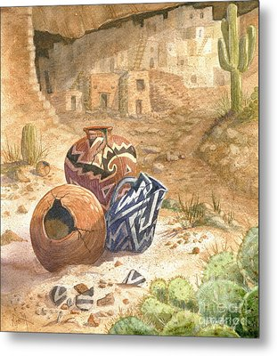 Metal Print featuring the painting Remnants Of The Ancient Ones by Marilyn Smith