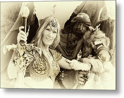 Metal Print featuring the photograph Renaissance Festival Barbarians by Bob Christopher