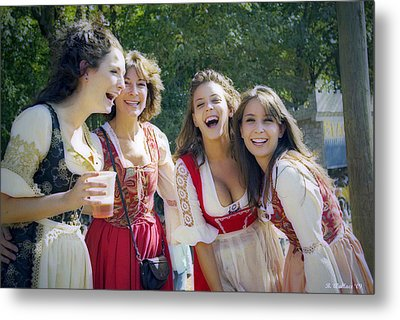 Renaissance Ladies Metal Print by Brian Wallace
