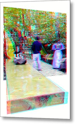 Metal Print featuring the photograph Renaissance Slide - Red-cyan 3d Glasses Required by Brian Wallace