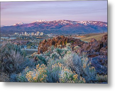 Metal Print featuring the photograph Reno Nevada Spring Sunrise by Scott McGuire