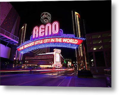 Metal Print featuring the photograph Reno - The Biggest Little City In The World by Shawn Everhart
