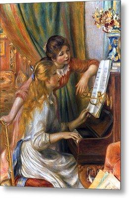 Renoir: Girls/piano, 1892 Metal Print by Granger