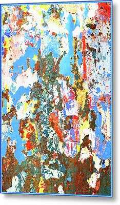 Repaint Abstract Metal Print