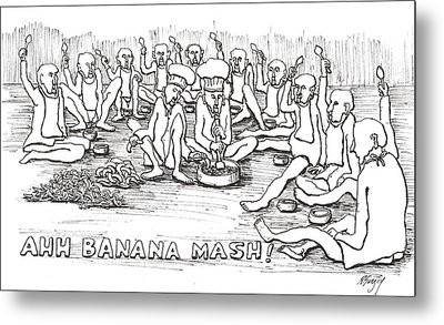Metal Print featuring the drawing Repast by R  Allen Swezey