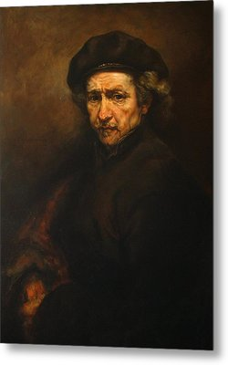 Replica Of Rembrandt's Self-portrait Metal Print