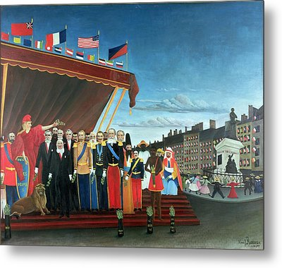 Representatives Of The Forces Greeting The Republic As A Sign Of Peace Metal Print by Henri Rousseau