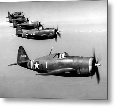 Republic P-47 Thunderbolts, Circa 1943 Metal Print