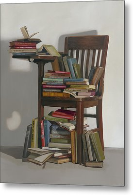 Metal Print featuring the painting Required Reading by Gail Chandler
