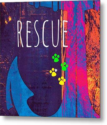 Rescue Anchor Metal Print