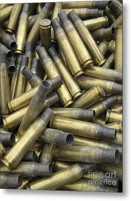 Residual Ammunition Casing Materials Metal Print by Stocktrek Images