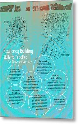 Resiliency Building Skills - Blue Metal Print by Heidi Hanson