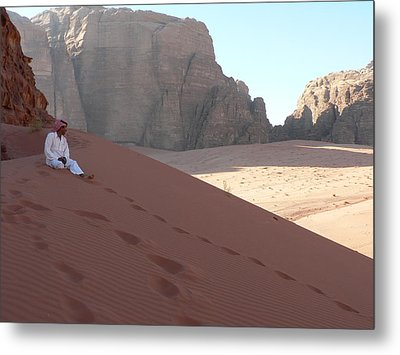 Rest At Wadi Rum Metal Print by James Lukashenko