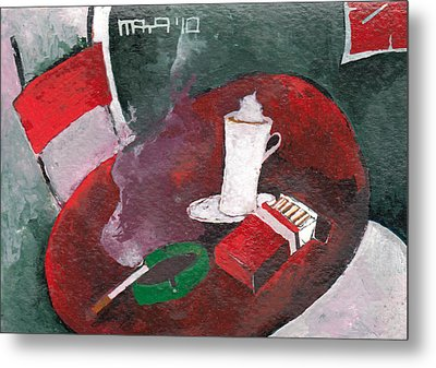 Metal Print featuring the painting Rest by Maya Manolova
