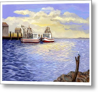 Metal Print featuring the painting Resting Nets by Sena Wilson